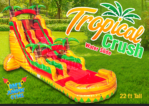 Tropical Crush Water Slide with pool