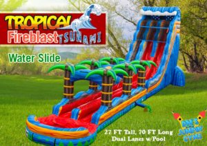 Tropical Fireblast Tsunami Water Slide