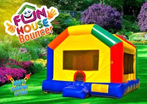 Colorful Bounce House for Kids Birthday Party