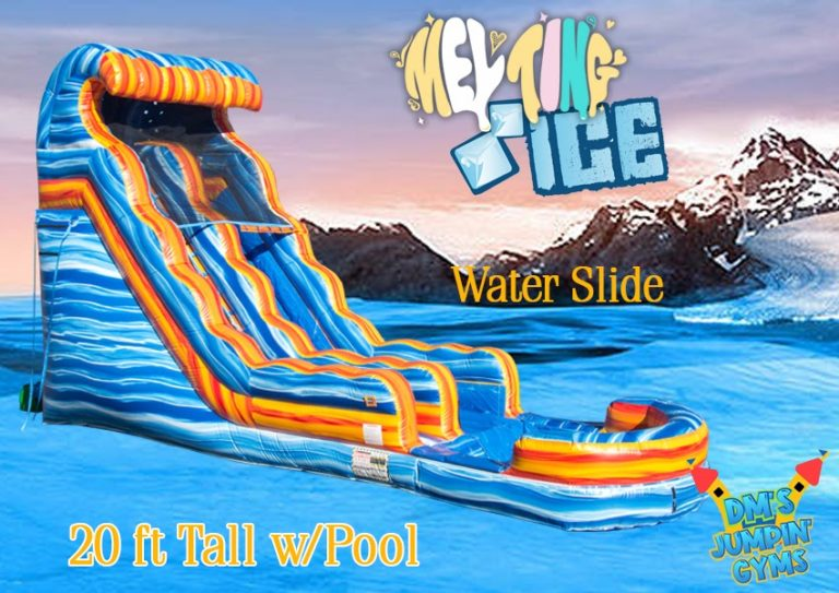 Blue & Yellow Marble Water Slide with Pool