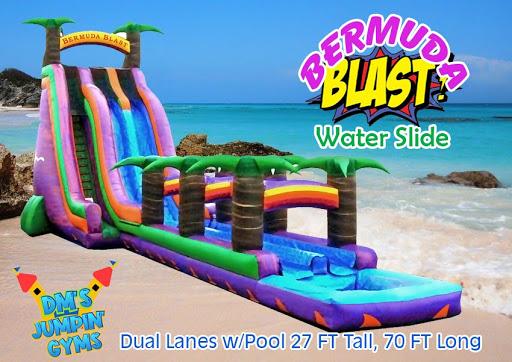 water slide rental, inflatable wet slide, bouncy water slide, water slide for party, backyard water slide rental,