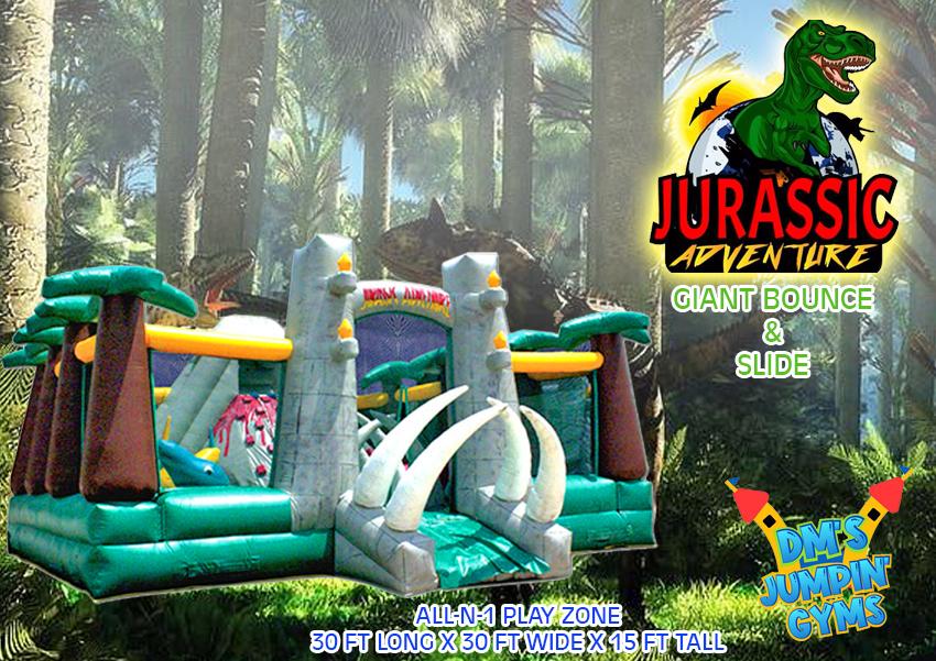 Dinosaur Bounce House Slide