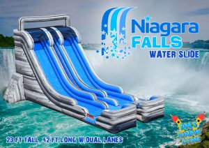 Dual Lane Water Slide for Party