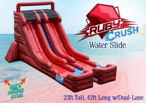 Red Inflatable Water Slide
