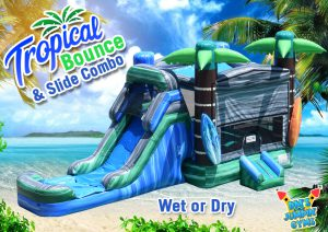 Tropical Bounce House Water Slide